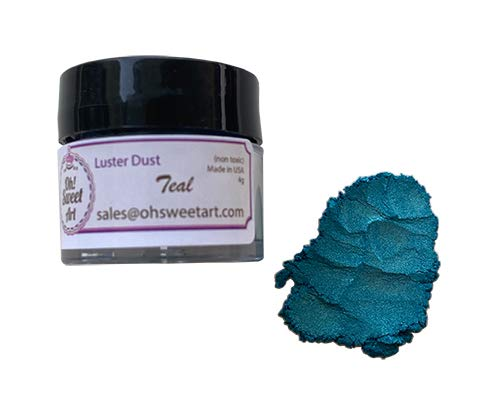 TEAL LUSTER DUST 4 grams each Max 44% OFF container Genuine Art Oh By Sweet Corp