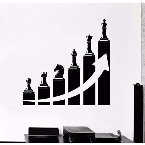 Echecs zelfklevend behang, afneembaar, voor woonkamer, decoratie, succes, carrier, ladder, muursticker, 57 x 56 cm