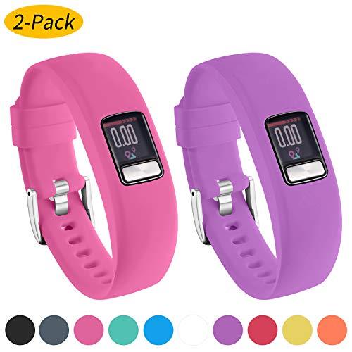 Ansblue Armband für Garmin Vivofit 4, Glatte Silikon-Ersatzarmbänder für Garmin Vivofit 4 Activity Tracker, mit sicheren Metall-Uhrenverschluss-Schnallenbändern Groß Klein