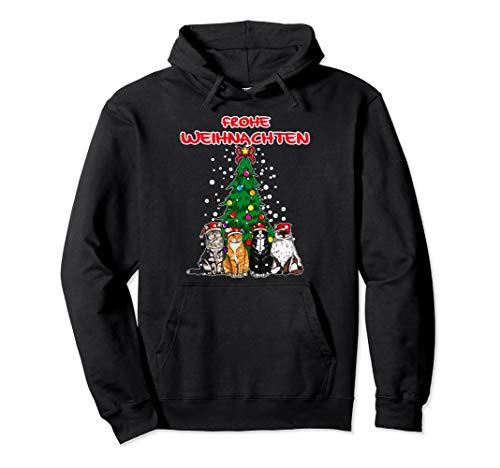 Frohe Weihnachten Kätzchen Katzen Weihnachtsbaum Geschenk Pullover Hoodie