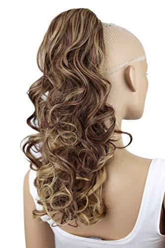 PRETTYSHOP Haarteil Zopf Pferdeschwanz Haarverdichtung Haarverlängerung VOLUMINÖS 55cm rotbraun blond mix #33H27 PH29