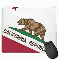 カリフォルニアベア州の旗 マウスパッド 25×30 大判 ノンスリップ 防水 ゲーミング おしゃれ マウスの精密度を上がる