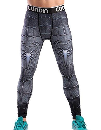 Cody Lundin Impreso Polainas Masculina de película héroe Logo Hombres Pantalones Largos Fitness Culturismo Apretado (XXL, Color-d)