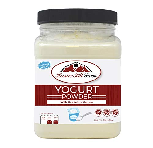 Hoosier Hill Farm Probiotic Yogurt powder with active cultures, hormone free, no artificial colors or ingredients, no added sugar 1 lb. Made in the USA