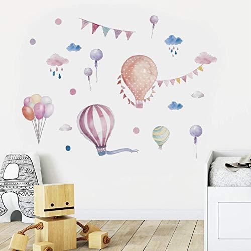 Pegatinas de Pared Globos Aerostáticos Vinilos Decorativos Pared dormitorio Stickers Extraíble Adhesivos de pared niños Murales, para Infantiles Habitación Salón Dormitorio (globo)