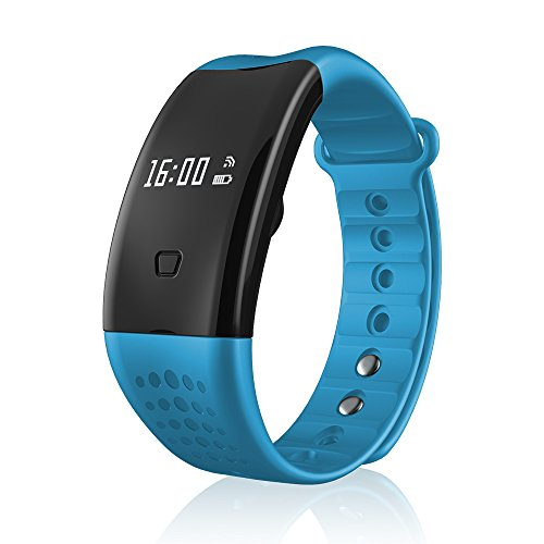 Pulsera inteligente de fitness compatible con iPhone y Android y Bluetooth 4.0