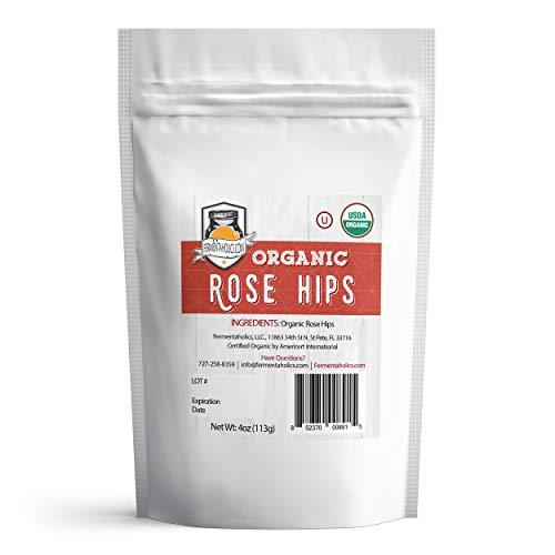 Fermentaholics USDA Certified Organic Dried Rose Hips - Perfect For Kombucha Brewing