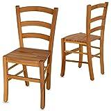 Staboos 2er Set Stühle, Esszimmerstühle Holz-Stuhl CH71 - bis 150 kg - Buche geölt - Holzstühle Esszimmer - Küchenstühle Holz