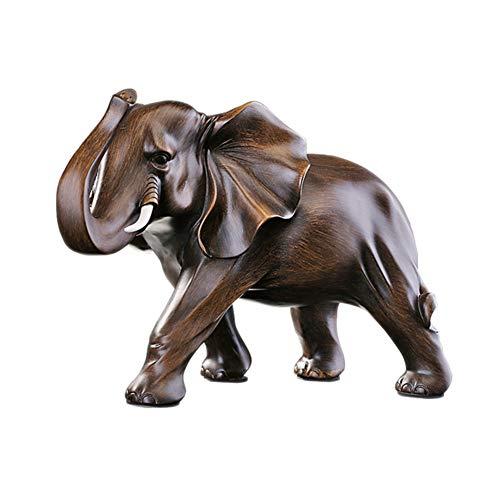 ZSPXIN Tier Skulptur Decor,Tafelaufsatz Moderne Retro Heimtextilien-Handwerk Ornamente Perfekter Begleiter für die Kugeln Statue Kommode Wurzelholz-A