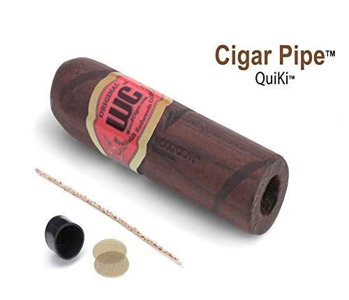 Cigar Pipe - Discreet Stogie Pipe - Original. Organic. Natural. Tobacco Pipe (Walnut, 3 Inches)