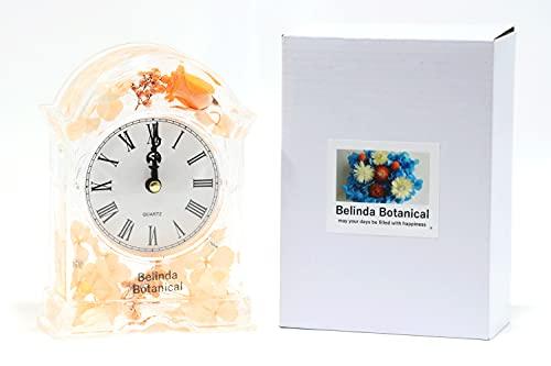 【Belinda Botanical (ベリンダ ボタニカル)】ハーバリウム 固まる3?オイル オリジナル花時計 yellow プリザーブドフラワー 花 プレゼント 母の日 父の日 日本製 ギフト