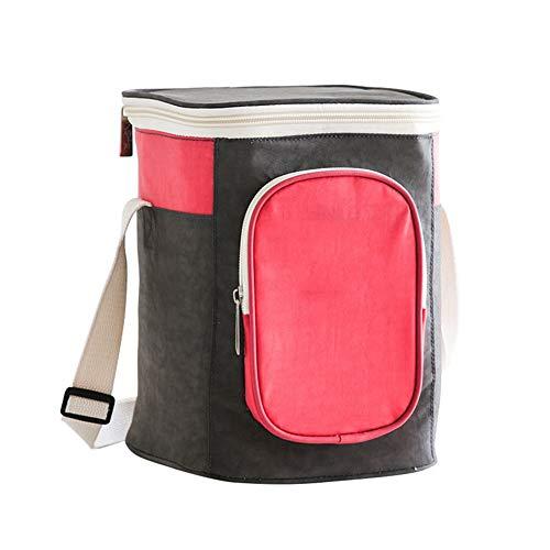 ZTSS wiederverwendbare Muttermilch-Kühltasche mit verstellbarem Schultergurt, isolierte Lunchbox, Kühltasche, auslaufsicher, für Babyflaschen, Thermo-Lunchtasche, rot