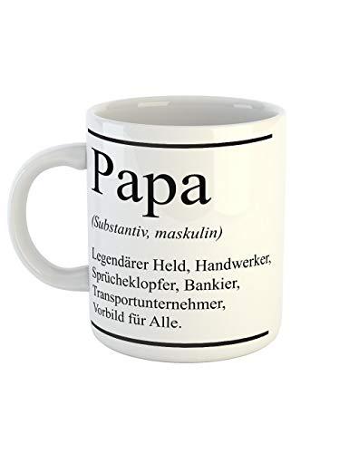 clothinx Papa Definition Held Handwerker Vorbild Ideal zum Vatertag als Vatertagsgeschenk Tasse