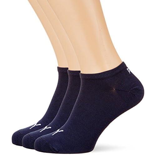 PUMA Sneaker Plain 3p Calze sportive, Blu Navy, 35/38 (Pacco da 3) Unisex – Adulto