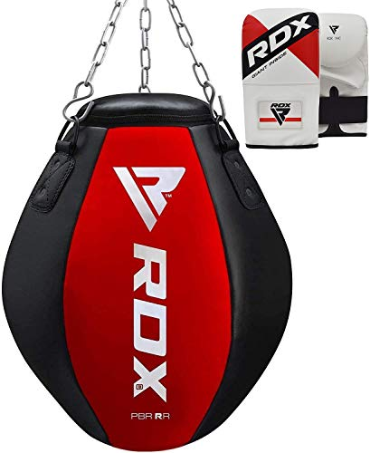 RDX Punching Bag UNFILLED - Uppercut Heavy Wrecking Ball Punch Training Gloves - Great for Boxing,...