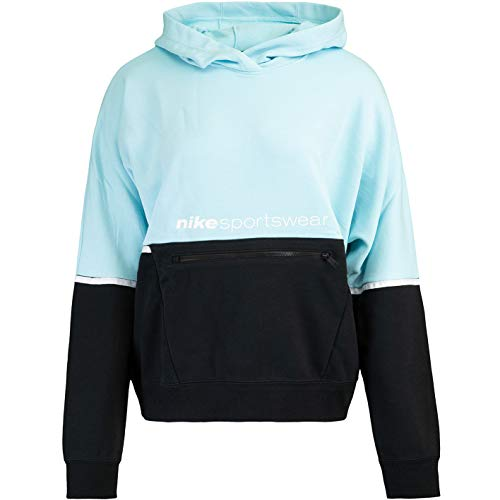 Nike Archive Remix French Terry - Sudadera con capucha para mujer, Todo el año, Mujer, color Color: negro., tamaño M
