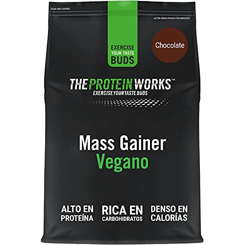 THE PROTEIN WORKS Vegan Mass Gainer   100% a Base de Plantas   Alto en Calorías Para el Aumento de Masa   Chocolate Suave   2kg