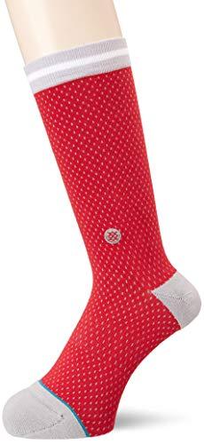 Stance Rockets Jersey Calcetines, Rojo, Medium para Hombre