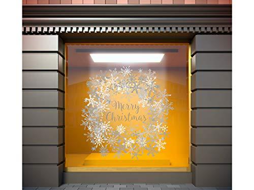 Oedim Vinilo para Escaparates Decoración Merry Christmas | 100 cm de Largo x 100 cm de Alto | Vinilo Adhesivo | Decora tu escaparate | Pegatinas Adhesivas Escaparate | Vinilos para Negocios