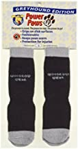 Power Paws Advanced, Traction Socks for Dogs w/Reinforced Toe, Black & Gray, Greyhound M, fits up to 70 lbs.