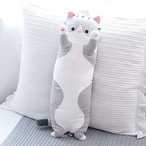 Plüsch lange gestreifte Beine Schlafkissen Bett super weiche Puppe Bär süßes Mädchen-gray||70CM
