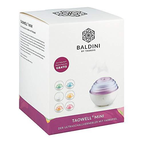 Baldini TaoWell Mini Luftbefeuchter Aroma Diffuser mit Ultraschall Vernebler mit Wellness Licht in 6 Farben Duftlampe für ätherische Duftöle