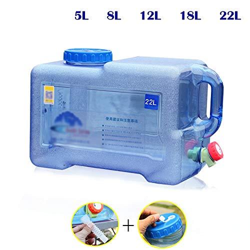 Guoda Wasserkanister  PC-Material In Lebensmittelqualität   Mit Verlängerungsrohr   Wasserhahn   Zu Hause, Im Freien   Blau (Size : 22L)