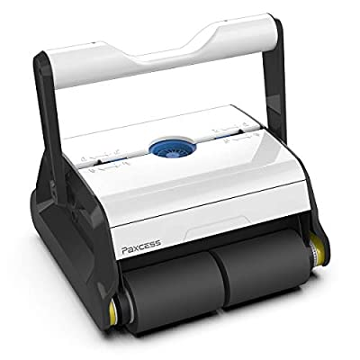 PAXCESS Robotic Pool Cleaner with Wall-Climbing Function,Dual 180um Large Filter Basket,Tangle-Free Cord Up to 50 Feet,Automatic Pool Cleaner,Do Intelligent Cleaning for Above/In-ground Swimming Pool
