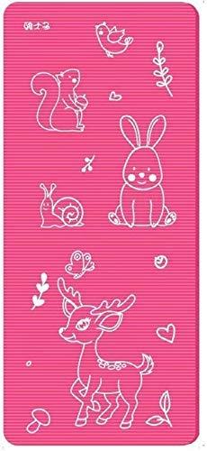 NDYD Mats Matte Matte Swan Dance, a Mano para niños, Estera Antideslizante, Espesado y ampliado en casa (Color: Pink-Zoo, Tamaño: 15mm) DSB