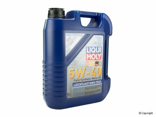 Liqui Moly Fully Synthetic Motor Oil 5W-40 5 Liter Bottle (2 Pack)