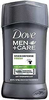 Dove Men+Care Stain Defense Antiperspirant Deodorant Stick, Fresh, 2.7 oz (Pack of 2)