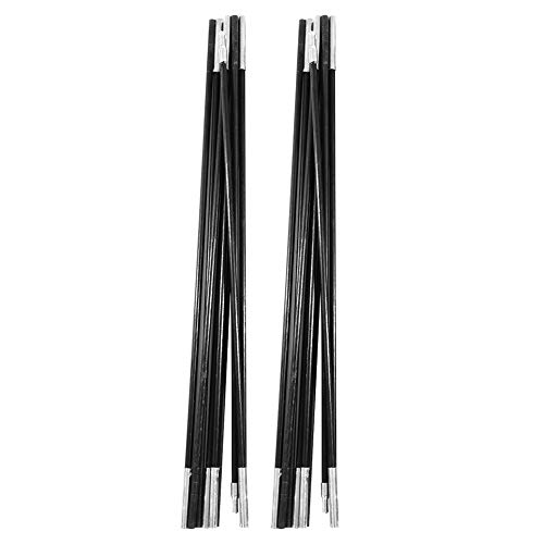 4.9M Tent Poles Replacement for Tarp, Multi Sections Foldable Adjustable Fiberglass Tarp Poles for Camping Backpacking,Lightweight Replacement Tent Poles