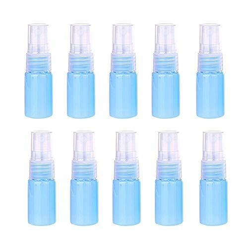 Nikgic. 10 stuks kleine draagbare spuitflessen fijne nevel verstuiver plastic spuitflessen leeg 10 ml spuitflessen blauw voor planten water tuin parfum reizen essentiële oliën haar toner