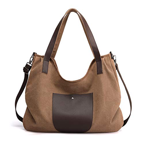 CVBGH Large-Capacity Casual Shoulder Bag Ladies Retro Tote Bag Handbag Simple Large Bag Canvas Bag