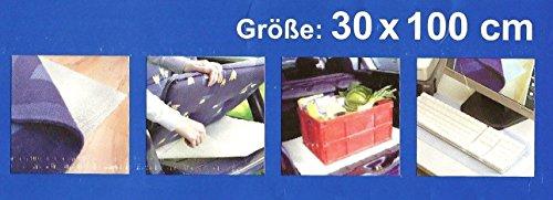Sachsen Versand Antirutschmatte Rutschschutz für Brücken und Teppiche 100 x 30 cm zuschneidbar Teppichstopper Teppichunterleger Antirutschmatte Teppichunterlage
