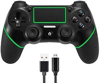 Sollop controlador Bluetooth inalámbrico para PS4 Playstation 4 – Panel táctil Joypad con doble vibración seis ejes DualShock Game mando a distancia Joystick con cable de carga USB