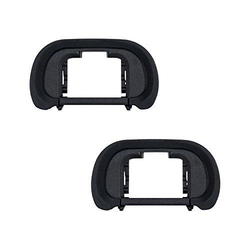 JJC Visor Ocular Eyecup para Sony Alpha A7, A7II, A7III, A7R, A7RII, A7RIII, A7RIV, A7S, A7SII, A9, A9II, A58, A99II Reemplazo de Sony FDA-EP18 (Lote de 2)