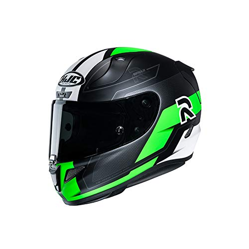 Casco moto HJC RPHA 11 FESK MC4SF, Nero/Bianco/Verde, S