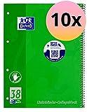 Oxford 100050405 - Cuaderno de espiral (para zurdos, 10 unidades, cuadriculado, 80 hojas, A4, 90 g/m²)