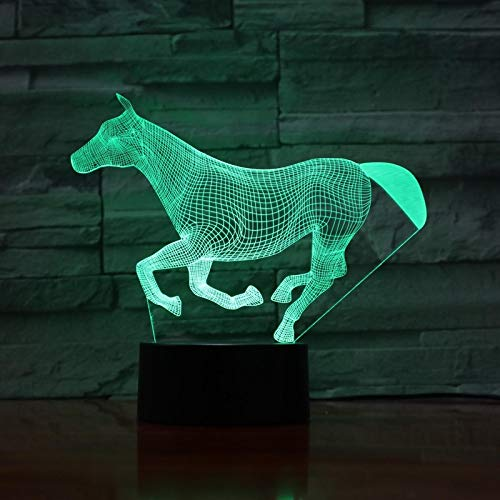 HGFHGD Animal 3D Light Illusion Luz de Noche para niños Bombilla LED...