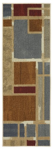 Mohawk Home Soho Regnar Teppich mit geometrischen Quadraten, 31 x 152 cm