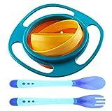 Tazón para bebé - WENTS Cuenco de alimentación Befaith para bebé a prueba de derrames giratorio 360° que evita que se derrame la comida con la detección de la temperatura