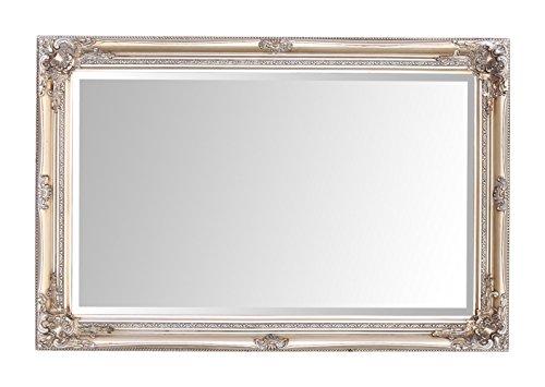 Espejos seleccionados Rhone Espejo de pared grande - Estilo barroco antiguo - Madera maciza - Acabado a mano - Champán antiguo - 60 cm x 90 cm