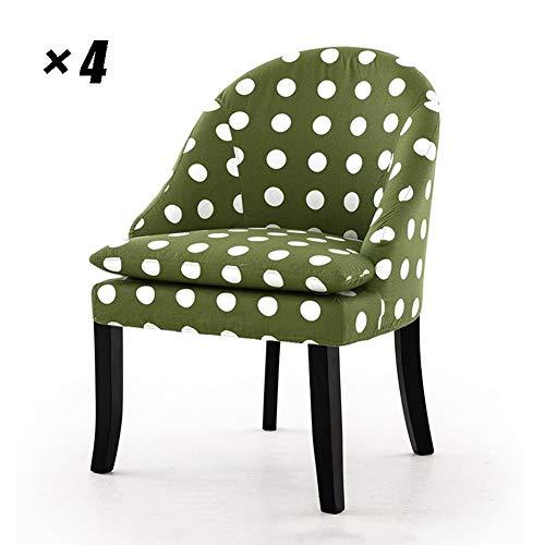 Caiyi Lounge stoelen van massief hout, met rugleuning, armleuning, eenvoudige zitting voor huishouden, restaurant, conferentie, kantoor, 61 times, 86,5 cm 4 Stück groen
