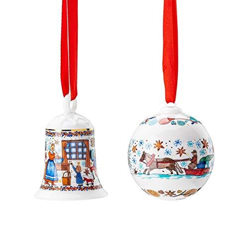 Hutschenreuther Porzellanglocke + Porzellankugel 2020 Motiv Weihnachtsbäckerei -