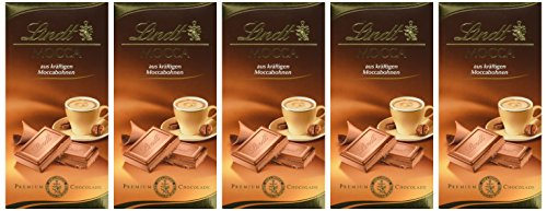 Lindt & Sprüngli Mocca Tafel, 5er Pack (5 x 100 g)