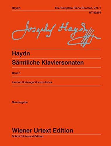 Sämtliche Klaviersonaten: Sonaten Hob. XVI:1-14, XVI:16, XVI:Es2/Es3/G1/F3, XVII:D1. Ed. Landon/Leisinger/Levin. Vol. 1. Klavier. (Wiener Urtext Edition)