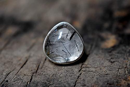Rose Quartz Ring,925 Sterling Silver Ring,Wanderlust Ring Statement Cocktail Large Gemstone Ring Jewelry Boho Ring Birthstone Gemstone Ring