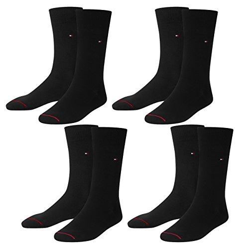 Tommy Hilfiger Herren Socken Madison 98% Pima Sock 4er Pack, Größe:41/42, Farbe:Black (200)