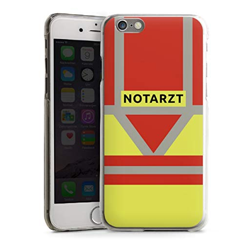 DeinDesign Hard Case kompatibel mit Apple iPhone 6 Schutzhülle transparent Smartphone Backcover Beruf Notarzt Uniform